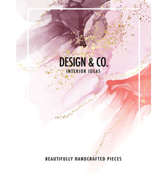 Watercolor background fashion pink glitter color vector