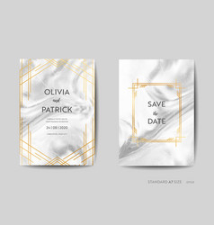 Wedding invitation cards art deco save the date vector