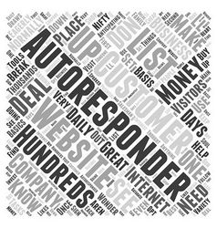What You Need To Know About Autoresponders Word vector image