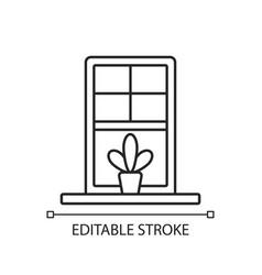 windowsills linear icon vector image
