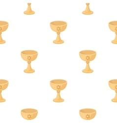 Wine cup icon in cartoon style isolated on white vector