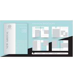 Women fashion brochure design template vector