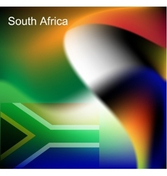 Abstract image of the South African flag vector image vector image