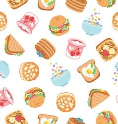 Breakfast seamless pattern vector image vector image