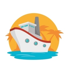 cruice boat travel isolated icon vector image vector image