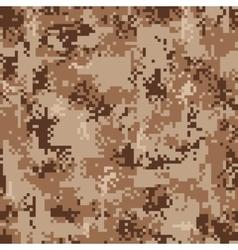 Digital Desert Camouflage Seamless Pattern vector image