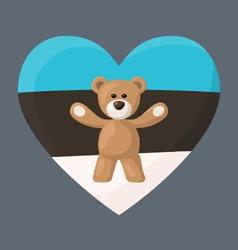 Estonian teddy bears vector