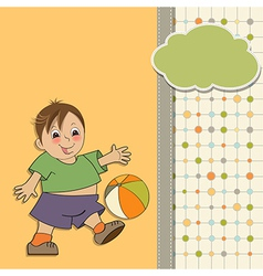 little boy playing ball vector image