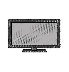 Modern television icon vector