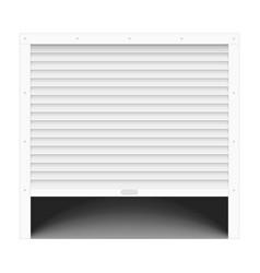 open garage door vector image