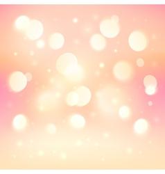 Pink bokeh light effect shining background vector