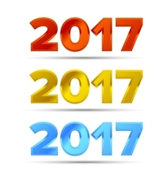 The word 2017 vector image