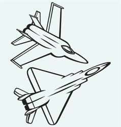 Warplane fighter vector