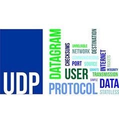 word cloud udp vector image vector image