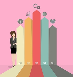 Business woman presenting the marketing vector image