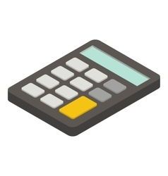 Calculator isometric icon vector image vector image
