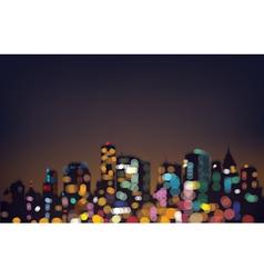city bokeh vector image vector image