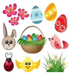 Easter symbol set vector