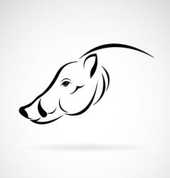 image of an boar head design vector image