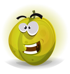 comic funny plum character vector image vector image