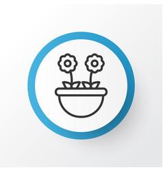 floret icon symbol premium quality isolated herb vector image vector image