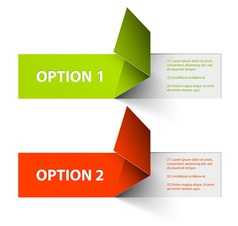 option tags vector image vector image