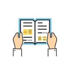 Reading Book Encyclopedia vector image vector image