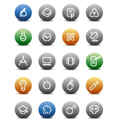 Stencil round buttons for science vector image