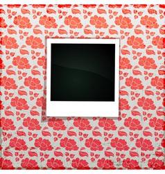 Flower Photo Frame Banner vector image vector image