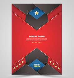 red brochure cover template design vector image vector image