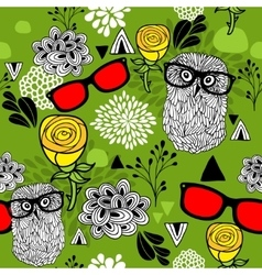 Summer or spring bright seamless pattern with vector image