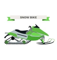 winter snow motorcycle vector image vector image