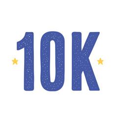 10k followers social media vector
