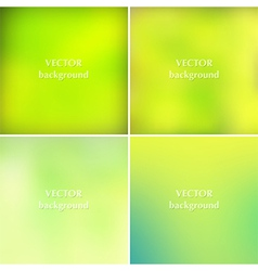 Abstract lime green colors blurred backgrounds vector image