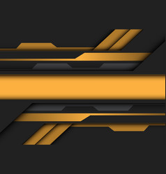 abstract yellow grey metallic banner circuit vector image