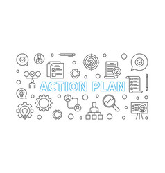 Action plan horizontal outline vector