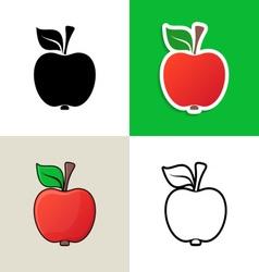Apple design elements vector