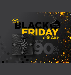 black friday sale background business vector image