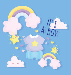 Boy or girl gender reveal its a clothes vector