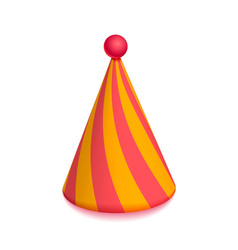 bright colorful party hat cap for celebration vector image