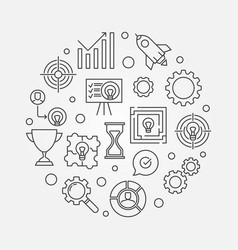 business strategy round vector image