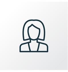 Businesswoman outline symbol premium quality vector
