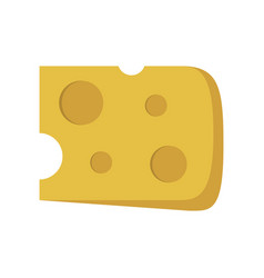 cheese slice icon in flat design vector image