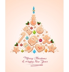 Christmas Tree Cookies vector