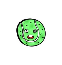 comic cartoon tennis ball vector image