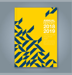 cover annual report 856 vector image