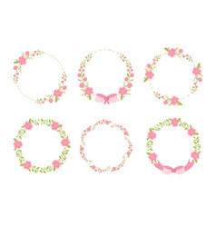 cute pastel green pink christmas flat style vector image