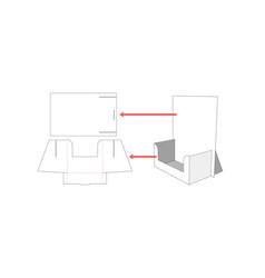 Display die cut template vector