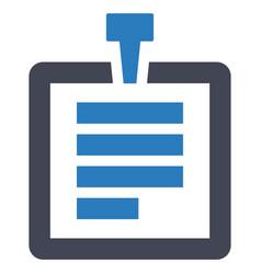 document attachment paper icon vector image