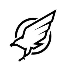 Eagle logo emblem monochrome logo vector